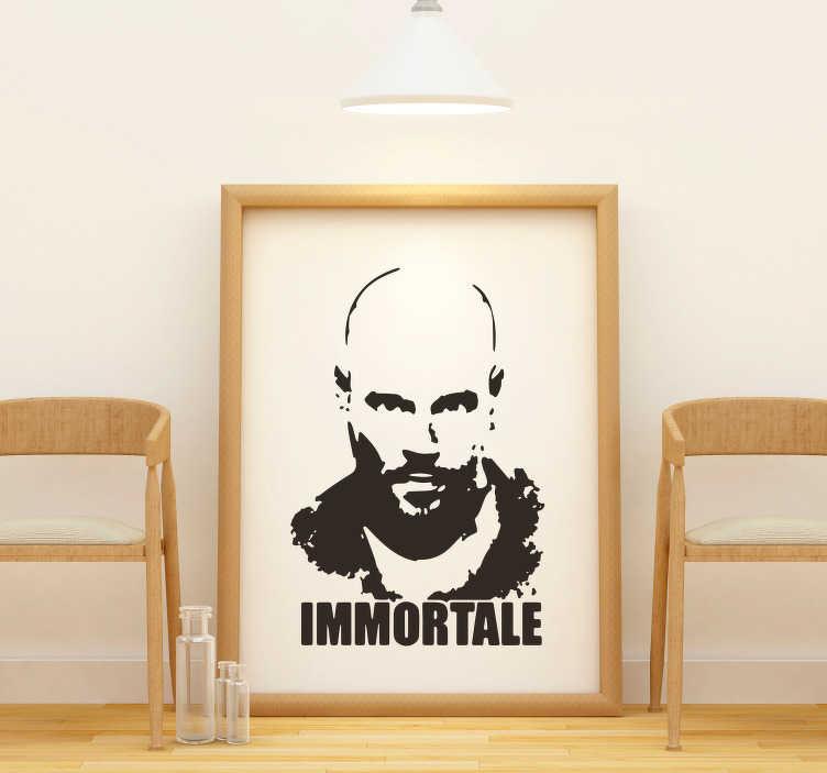 TenStickers. Adesivo murale Gomorra Immortale. Sei un fan della serie televisiva Gomorra? Allora decora le pareti della tua casa con questo adesivo serie tv con la sagoma de l'Immortale!