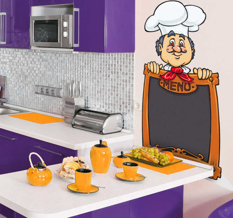 TenStickers. The Chef´s Special Menu Kitchen Sticker. Kitchen Stickers -  Blackboard vinyl sticker ideal for decorating any kitchen. Use it for announcing the menu for that day