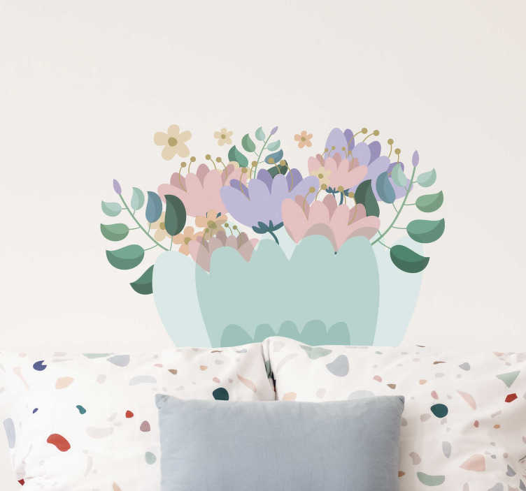 TenStickers. vintage flowers Home Wall Sticker. Give a touch of spring to your house, with our living room wall decor. There are colorful flowers, designed in a vintage style.