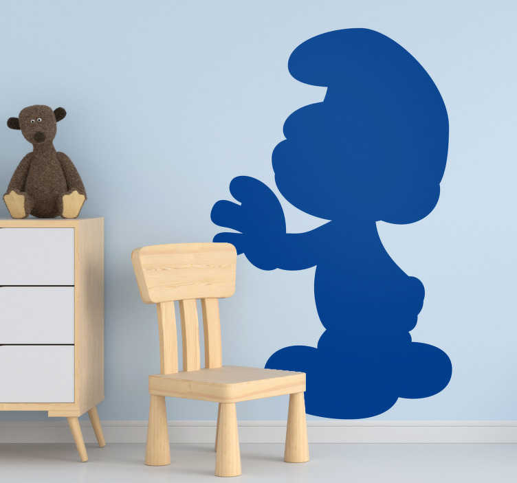 TenStickers. Smurf silhouette character wall decal. Cartoon film character silhouette of smurf. It is available in different colours and size options to enjoy a beautiful decorative in  the home.
