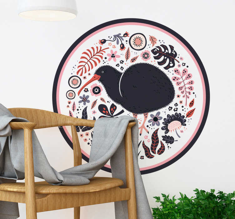 TenStickers. kiwi New Zealand bird sticker. Take a look at this marvellous kiwi New Zealand bird wall sticker and imagine how much better your house could be. Extremely long-lasting material.