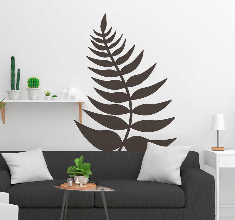 TenStickers. New Zealand Fern Leaf. Scrum down and show your national pride with this New Zealand fern leaf wall sticker. Choose from over 50 colours and a wide range of sizes.