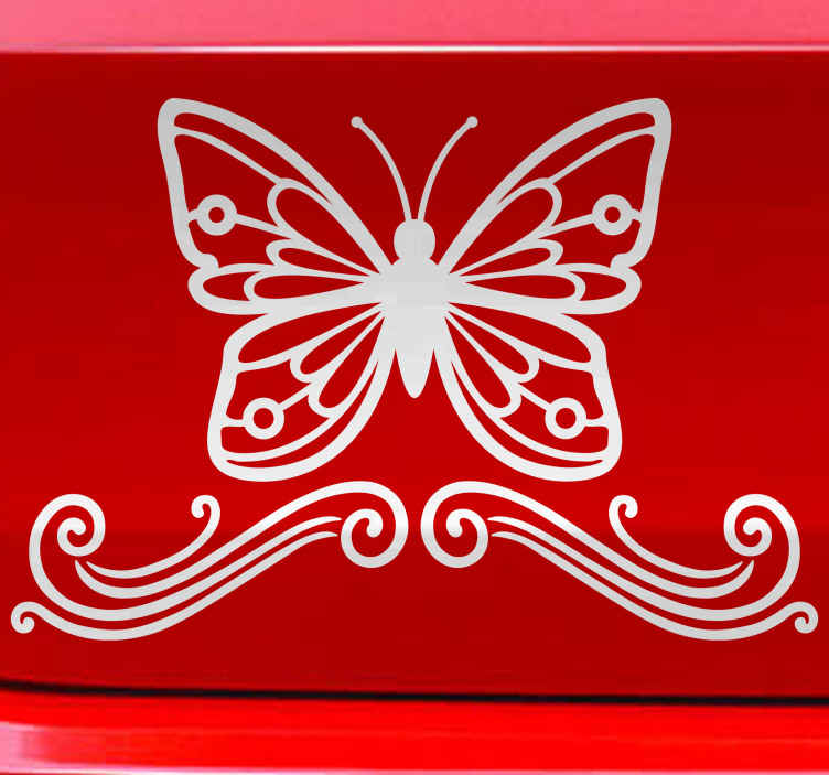 TenStickers. Ornamental butterfly Car Decal. Decorative ornamental butterfly car sticker available in different colours and sizes. Easy to apply and created from the best quality material.