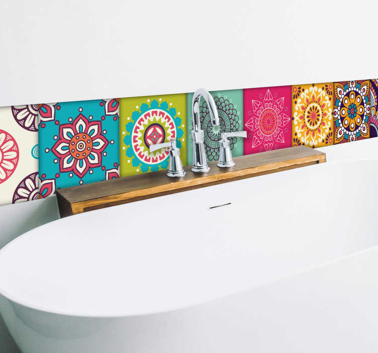 TenStickers. Moorish tiles wall border sticker. Give your home that moorish feeling with these colourful Morroccan tile wall decals. Choose from a wide range of shapes and sizes.