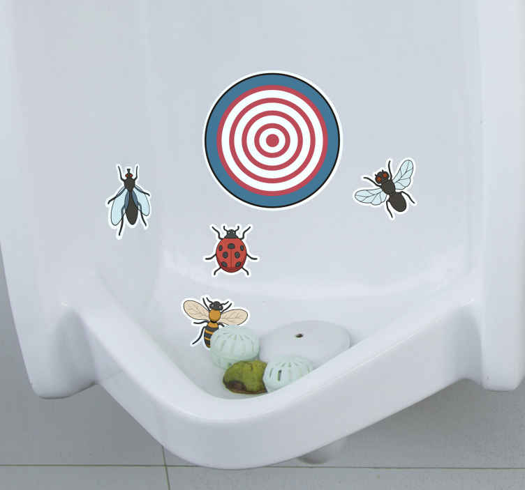 TenStickers. Urinal Target animal sticker. Make sure your colleagues and customers don't miss the mark with these humorous urinal target stickers. Choose from a wide range of shapes and sizes!