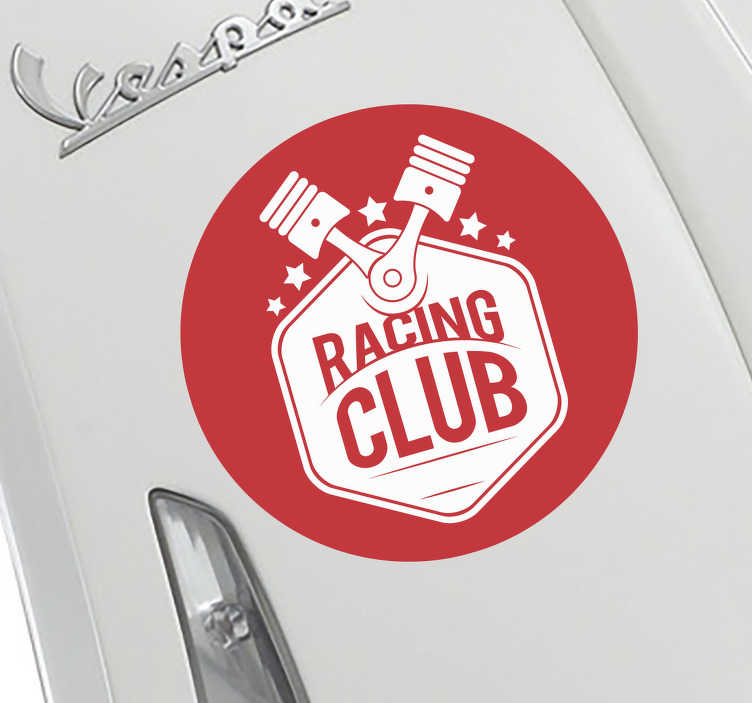 TenStickers. Motorsports personalised pistons sticker. Show the world your love for all things motorsport with this customisable racing sticker. Available in over 50 colours and a wide variety of sizes