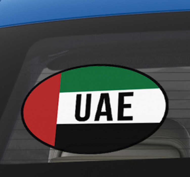 TenStickers. United Arab Emirates Car Sticker. High quality UAE flag Decal, perfect to stick onto gadgets, walls and your car windows. Choose from a wide range of sizes!