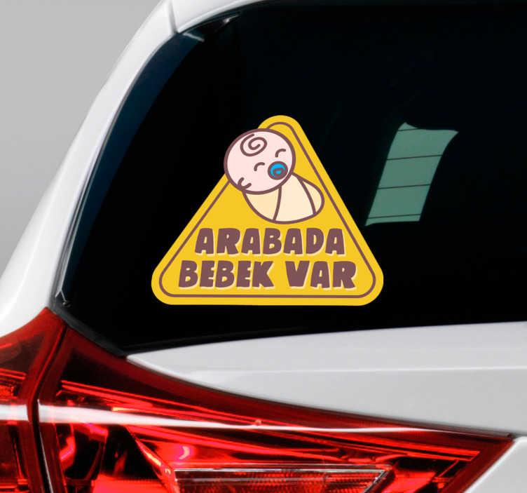 TenStickers. Etiket gemide üçgen bebek. Çocuklarımızın güvenliği için fiyat yok. Arabanızı çıkartmak için aracınızı şıklaştırırken aracınızı şıklaştırın.