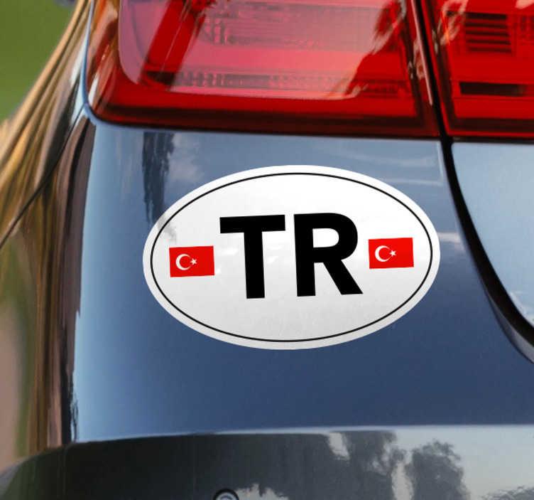 TenStickers. Türk araba sembolü konum etiketi. Arabanıza özgün bir dokunuş vermeye çalışıyor musunuz? Bu araba etiketi sizin için mükemmel! Uygulaması kolay ve yüksek dirençli bir malzemedir.