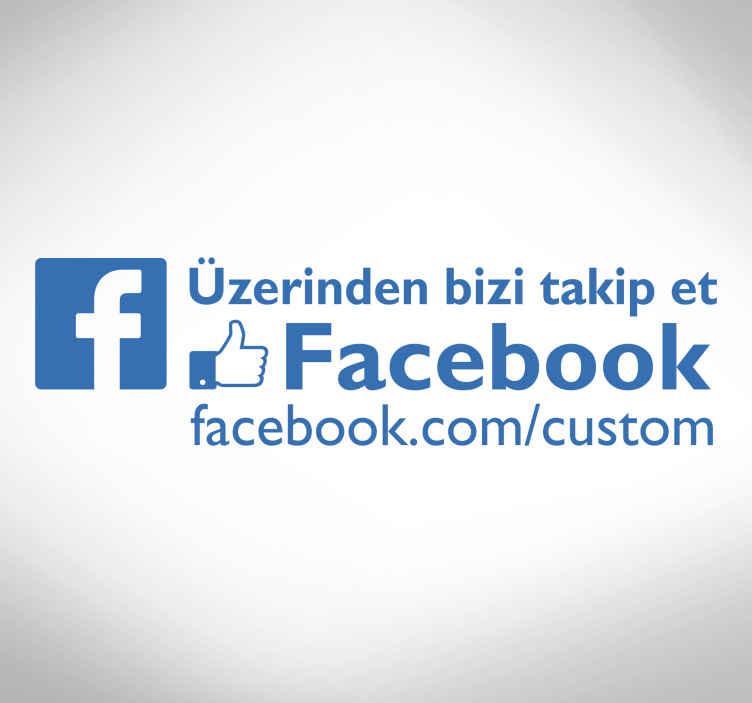 TenStickers. Facebook pencere etiketinde beni takip et. Müşterilerinize facebook hesabınızı takip etmenin daha iyi bir yolu var mı? Bu pencere etiketi mağaza cepheleri için idealdir. şimdi sipariş ver!