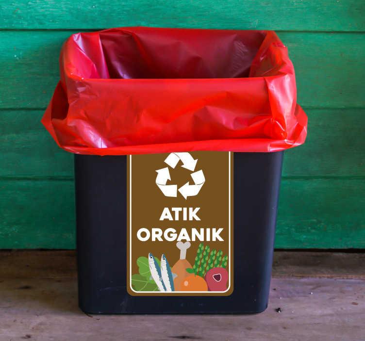 TenStickers. Organik çöp vinil işareti. Geri dönüşüm bir trendden çok daha fazlasıdır. Çocuklarınızın geleceğine yardım edin. Uygulaması çok kolay ve kaliteli vynil. Bu fırsat geçişinden ayrılmaz.