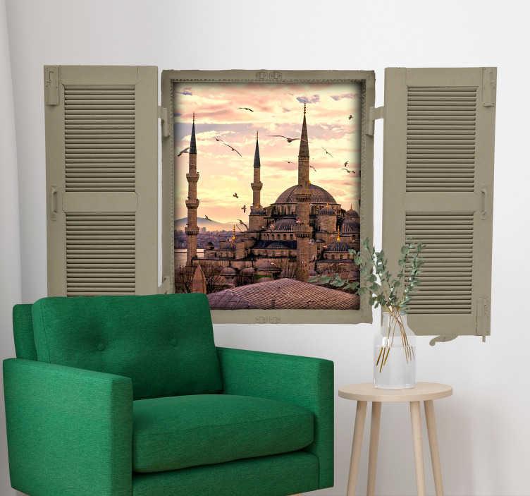 TenStickers. Sultanahmet camii oturma odası duvar dekoru. Gözlerini kapat türkiye'de olduğunu hayal et, şehri hissediyor musun? Bu güzel duvar çıkartmasıyla her gün mavi caminin tadını çıkarın.