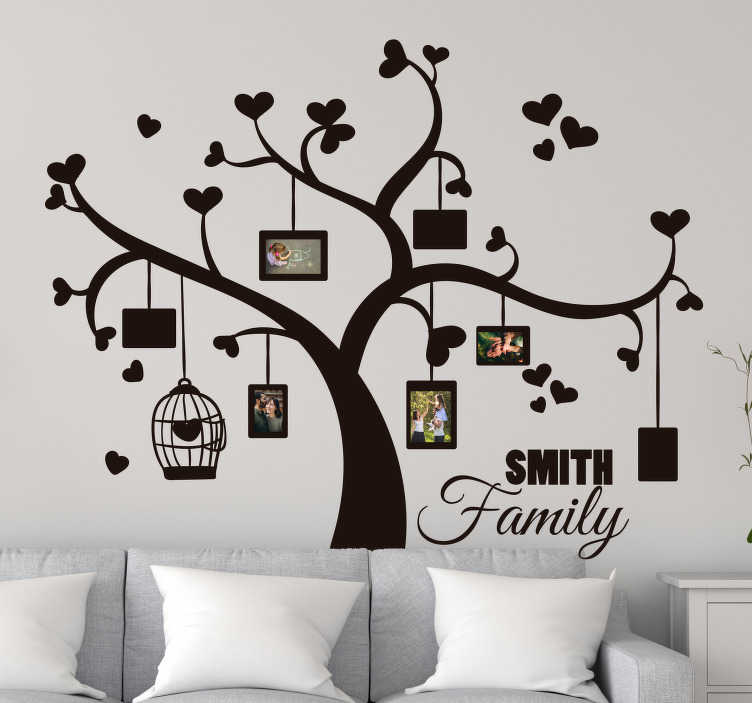 TenStickers. Heart family tree wall sticker. Show off how both loving and extensive your family is with this heart family tree wall decal. Choose from over 50 colours and a wide range of sizes!