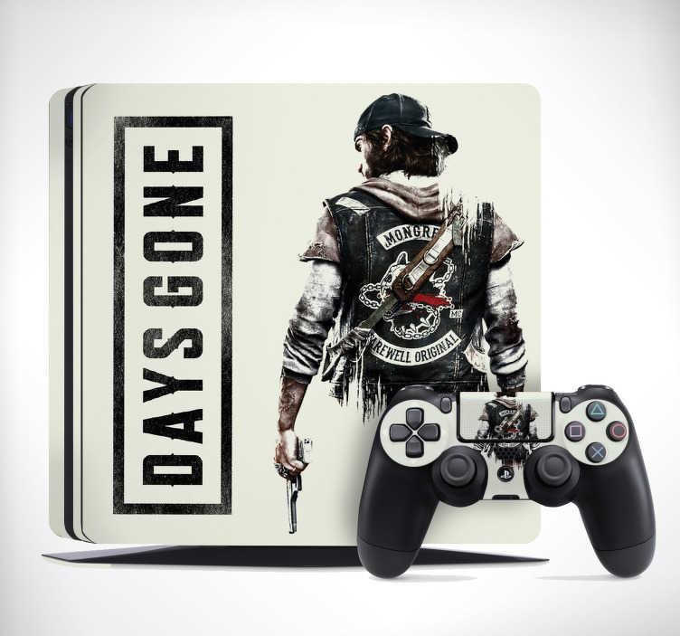TenStickers. Sticker PS4 skin Days Gone. Nous avons l'autocollant PS4 fait pour vous avec ce design de Days Gone reprenant le graphisme de ce jeu qui ravira tous les joueurs.