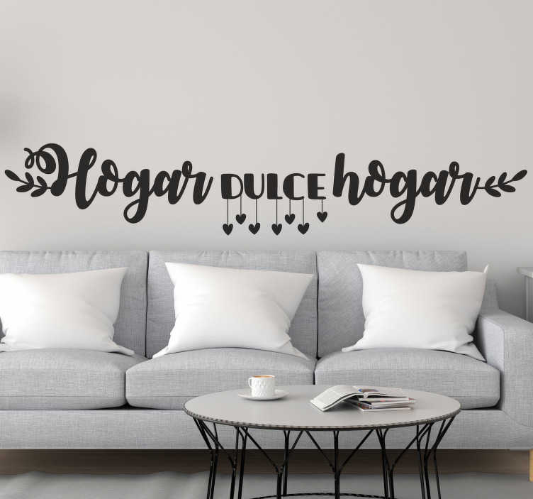 TenStickers. Sweet Home home text wall decal. Decorate the home with this beautiful text wall decal that is a available in different colour options and sizes to explore.