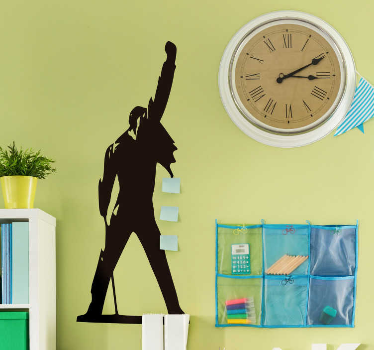 TenStickers. Freddie Mercury Silhouette Home Wall Sticker. Show your appreciation for the legendary musician and Queen frontman with this amazing Freddie Mercury silhouette wall sticker. Worldwide delivery!