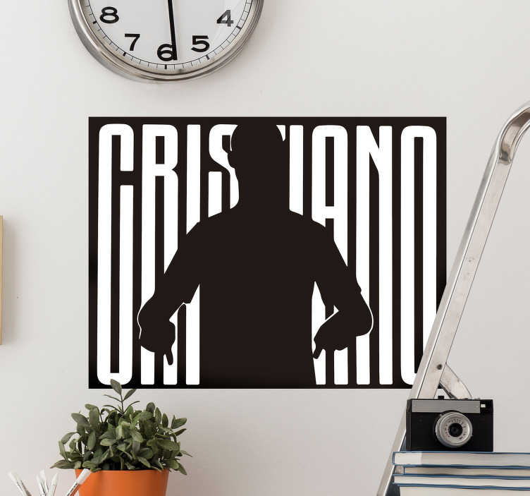 TenStickers. Cristiano Silhouette Home Wall Sticker. Celebrate the career of one of the greatest footballers of all time with this awesome Cristiano silhouette wall sticker. Worldwide delivery!