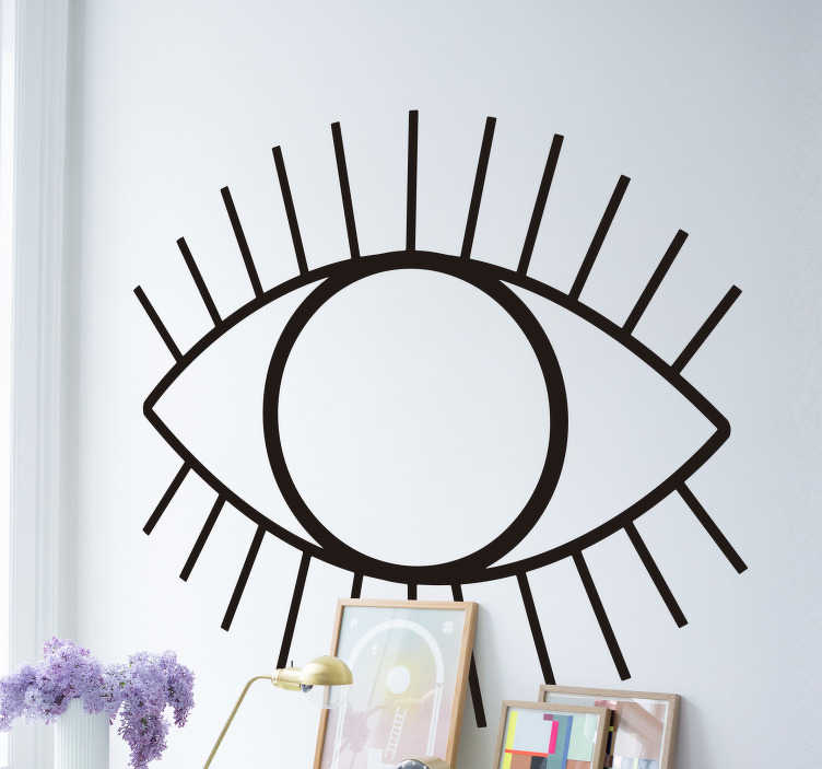 TenStickers. Abstract Eye Living Room Wall Decor. Give any room in your home a sense of wonder and mystery with this awesome eye wall sticker. Choose from over 50 colours!