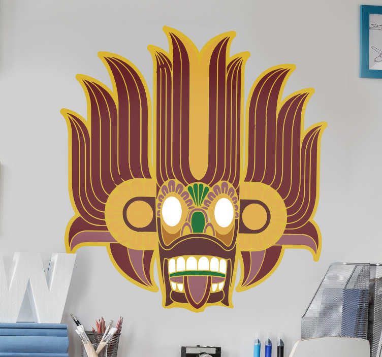 TenStickers. Tribal Mask Home Wall Sticker. Brighten up any room in your home, office or store with this super cool and freaky tribal mask wall sticker. Worldwide delivery available!