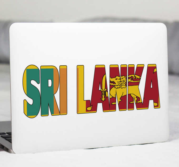TenStickers. Sri Lanka Flag Text sticker. Share in the rich history of Sri Lanka and wear its colours with pride with this fantastic Sri Lanka flag wall sticker. Worldwide delivery!