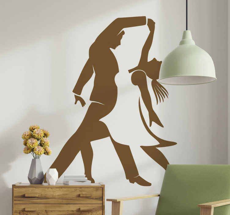 TenStickers. Dance school dance sticker. Dance wall art decal of baler dancers that is available in different colours and size options to explore. Easy to apply on any flat surface.