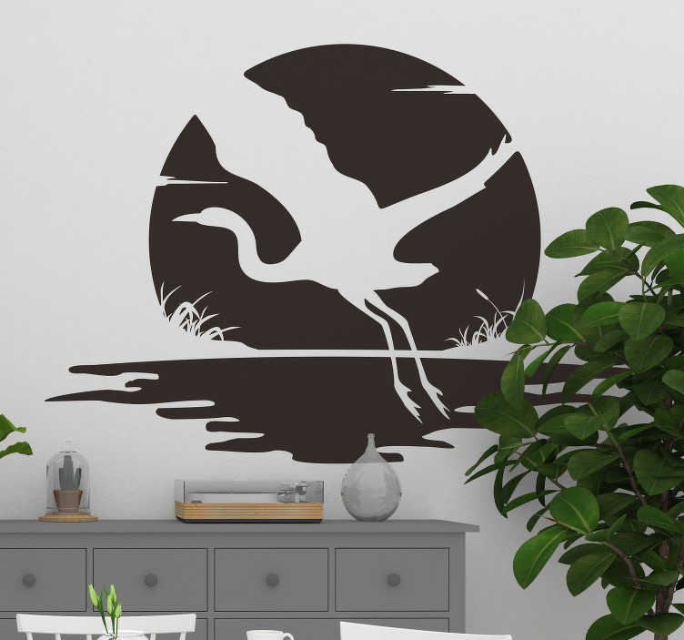 TenStickers. Flying bird Living Room Wall Decor. The flying bird will change your home, and your life. The flying bird will  inspire you very day to open your wings and fly!