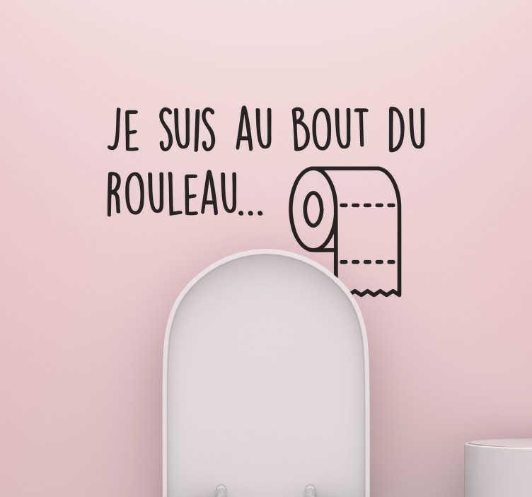 TenStickers. Sticker Salle de Bain papier toilette. Ce sticker papier toilette est une décoration fun et amusante pour décorer les murs de votre salle de bain ou de vos WC.