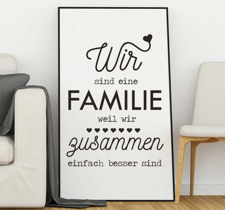 Wandtattoo Wohnzimmer Wandtattoo Spruch Familie