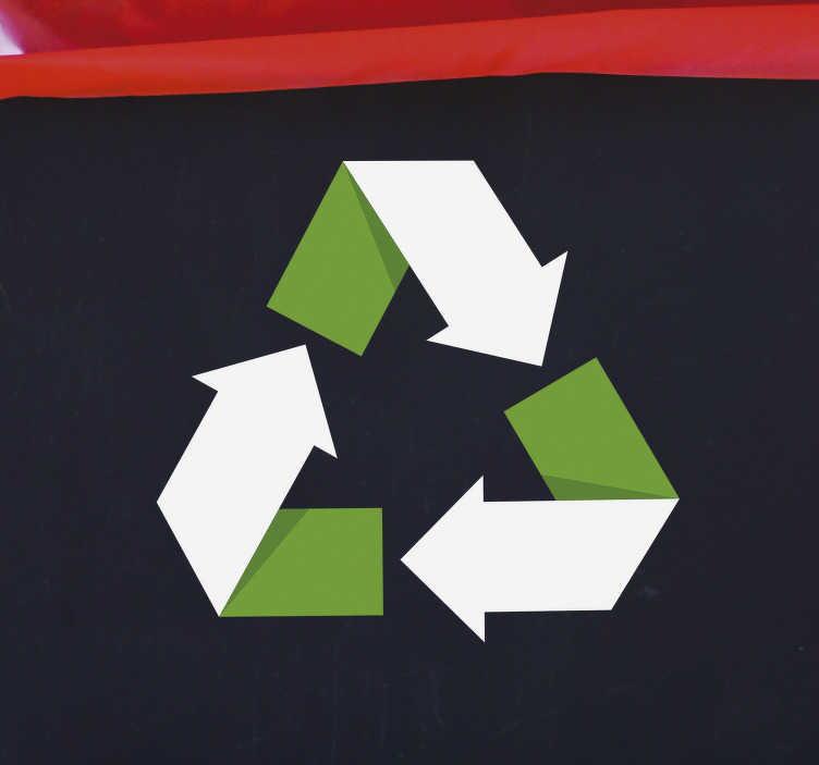 TenStickers. Recycle Symbol Home Wall Sticker. Start cleaning up the home and the world around you with this awesome recycle symbol wall sticker. Choose from a wide range of sizes!