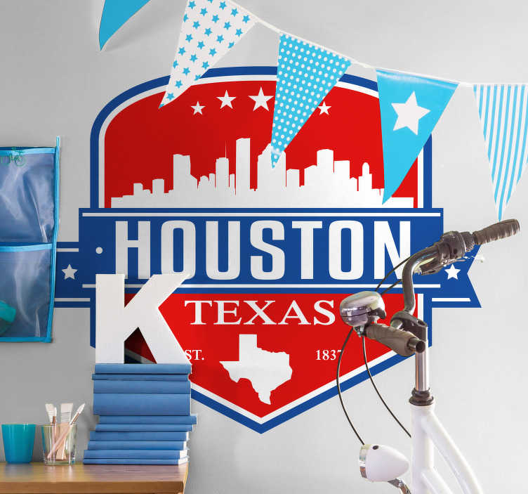 TenStickers. Houston Skyline Wall Sticker. Show the world your pride for your beautiful city with this amazing Houston skyline wall sticker. Choose from a wide range of sizes!