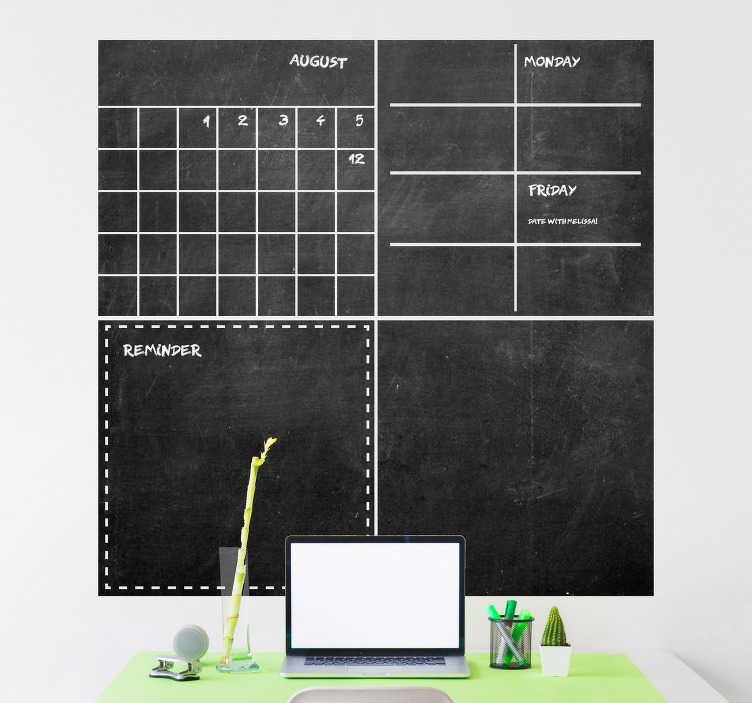 TenStickers. Organizer Blackboard Sticker. Stop organizing your life  and the lives of others in your home with this amazing organizer Blackboard sticker. Worldwide delivery available!