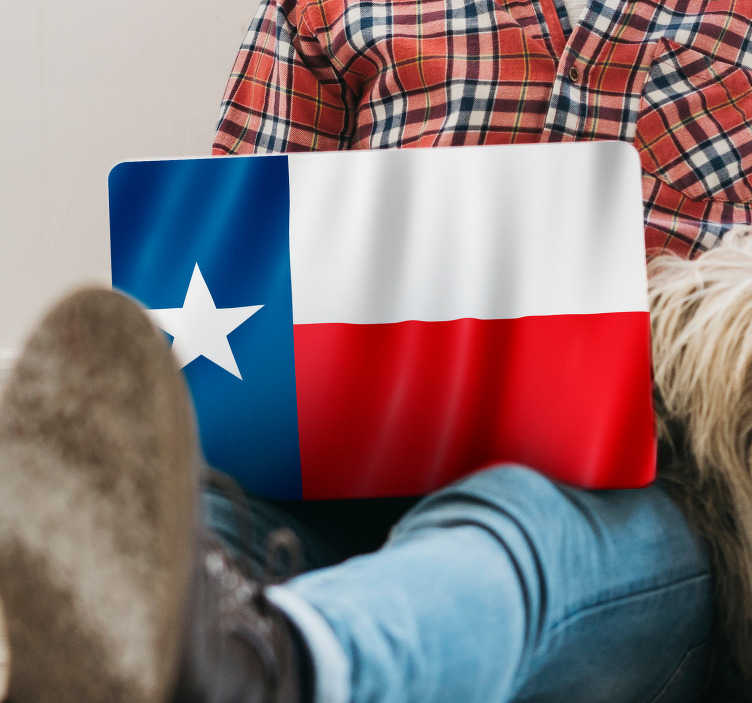 TenStickers. Texas Flag Laptop Sticker. Show the world just how much you love your state this amazing Texas flag laptop sticker. Free worldwide delivery available!