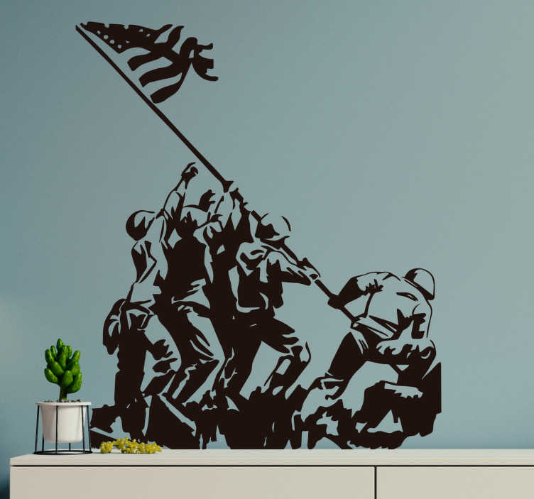 TenStickers. US Army Silhouette Wall Sticker. Share in the history and feel the patriotism flow through you with this awesome US Army wall sticker. Choose from over 50 colours!