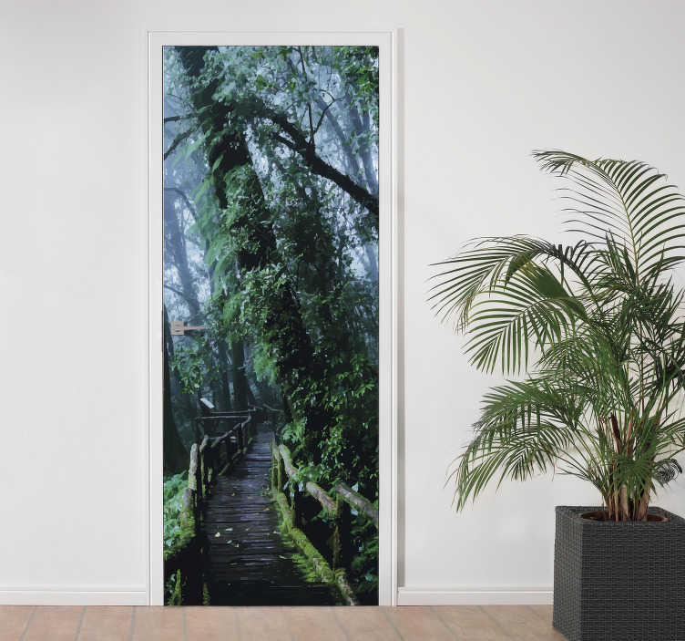 TenStickers. Rainforest door decal. Oh I wish I could have a door that could transport me to a rainforest. Well be one step closer to that dream with our rainforst door sticker