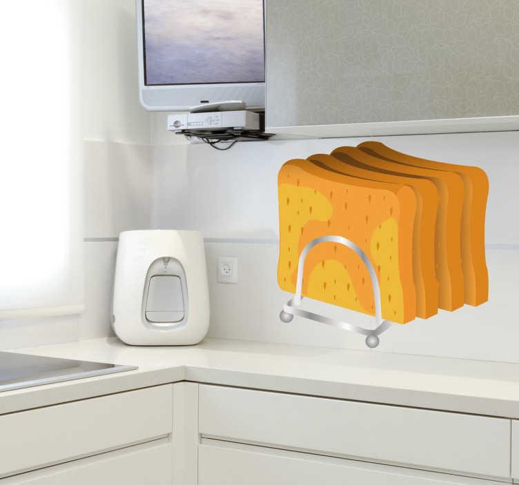 TenStickers. Naklejka dekoracyjna chleb tostowy. Naklejka dekoracyjna, która przedstawia pokrojony chleb tostowy. Obrazek jest dostępny w wielu wymiarach.
