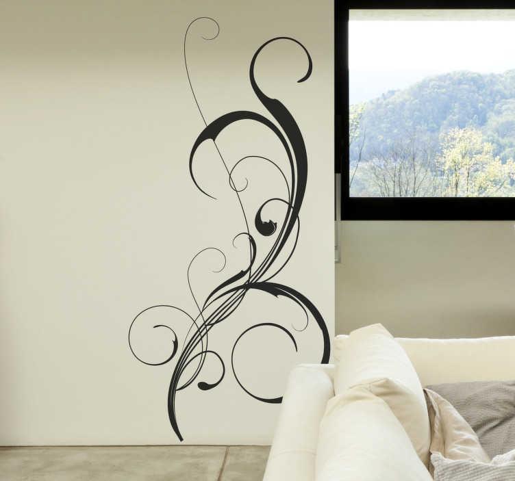TenStickers. Wandtattoo Dekorative Ranke. Dekorieren Sie Ihr Zuhause mit diesem Wandtattoo in Form einer eleganten Ranke.