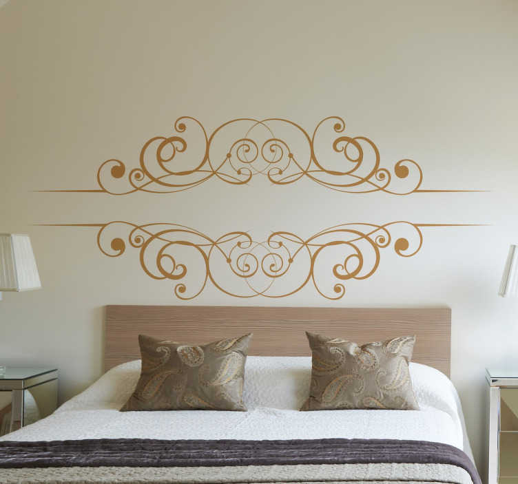 TenStickers. Drawn Filigree Sticker. Sticker with a drawn filigree design for you home. Decorate your walls with an original decal.