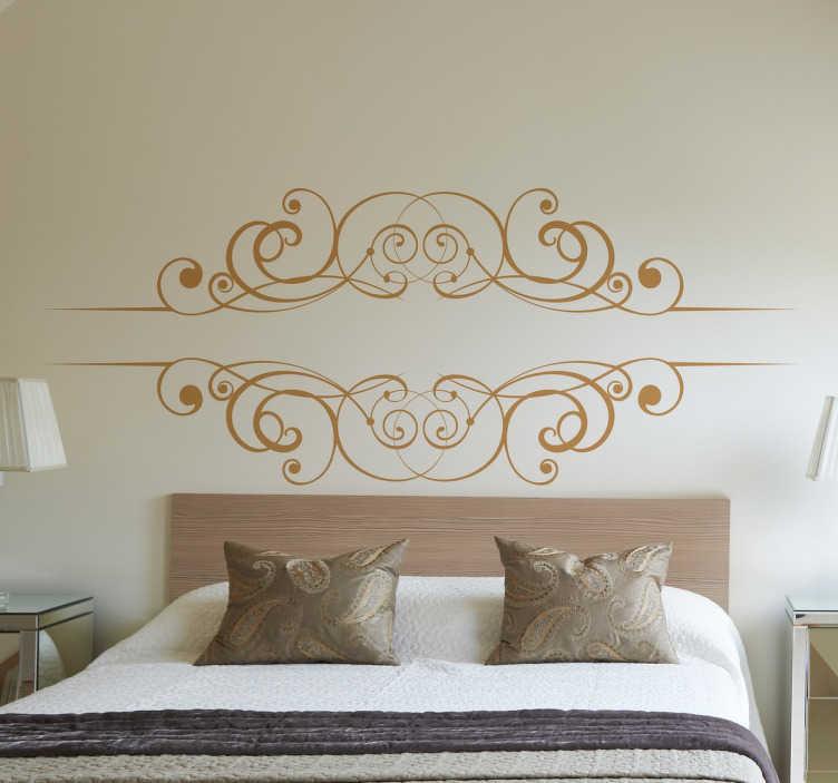 TenStickers. Wandtattoo Schlafzimmer Tribal. Einfaches und gradliniges Design von einem schlichten Ornament. Hübsches Wandtattoo für das Schlafzimmer.