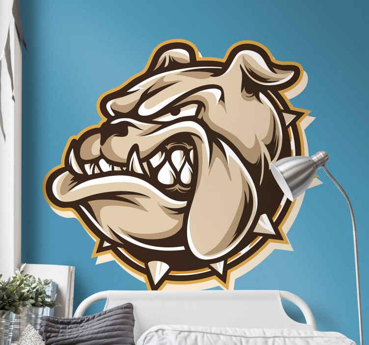TENSTICKERS. 動物のブル犬の壁デカール. あなたのスペースのための雄牛の動物の壁のステッカーのデザイン装飾。雄牛のような抽象的なデザインで、簡単に適用できます。