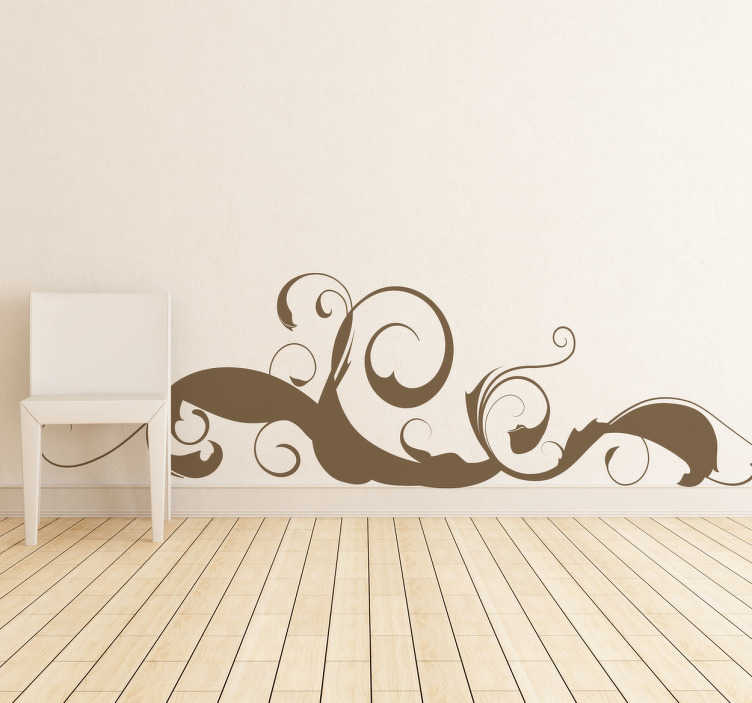 TenStickers. Curvy Strokes Wall Sticker. Elegant curved strokes wall sticker. Great for plain coloured walls that need some style. This abstract design is extremely versatile and perfect for any bedroom, dining room or living room on any wall as it is available in any size and colour you might want.