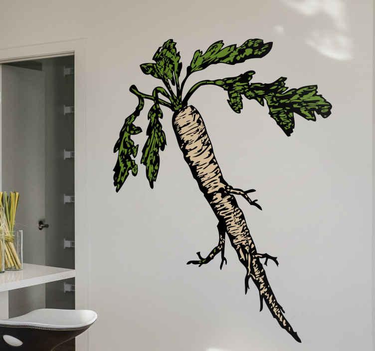 TenStickers. Naklejka dekoracyjna marchewka. Naklejka dekoracyjna, która przedstawia marchewkę. Oryginalna dekoracja do Twojej kuchni.