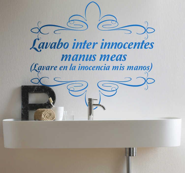 Vinilo decorativo latín lavabo