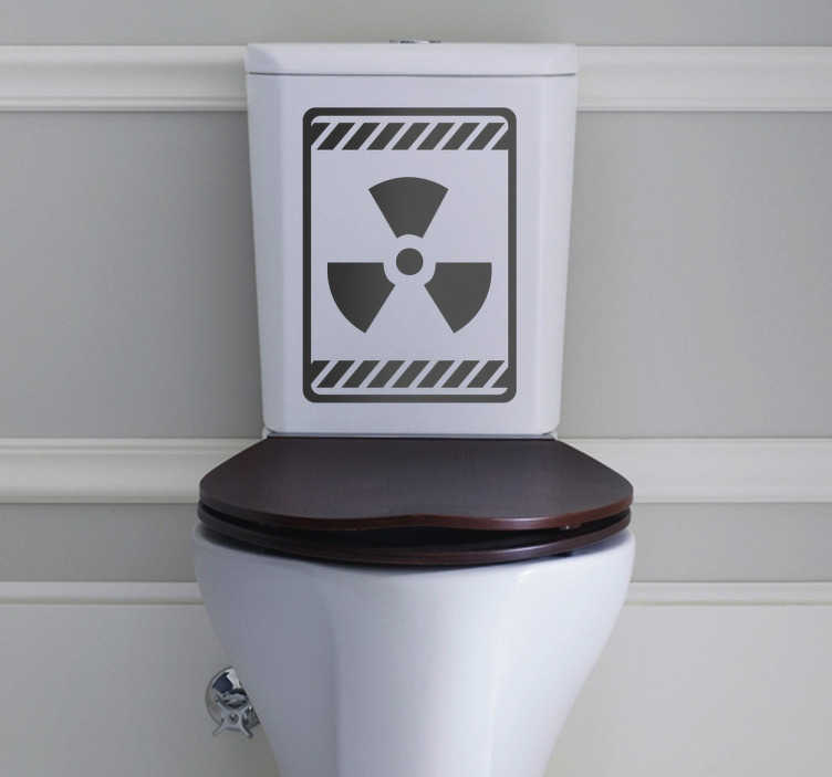 TenStickers. Naklejka niebezpieczeństwo radioaktywność. Naklejka dekoracyjna do ozdoby toalety, która przedstawia znak radioaktywności. Ciekawa dekoracja do Twojej łazienki.