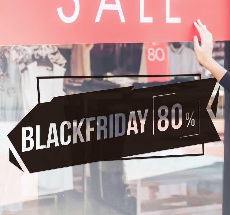 TenStickers. Autocolantes Promoções Black Friday Personalizável. Adesivo decorativo para montrasreferente às promoções da Black Friday em que poderá personalizar a percentagem! 50 cores disponíveis.