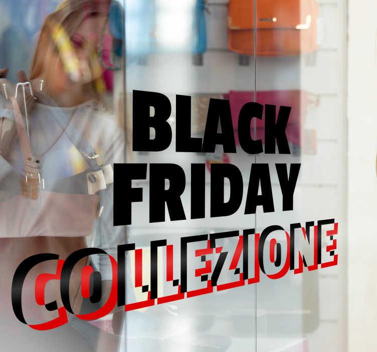 TenStickers. Scritte saldi per vetrine collezione black friday. Questo fantastico adesivo da vetrina collezione black friday farà entrare clienti incuriositi nel tuo negozio o attività commerciale, varie misure.