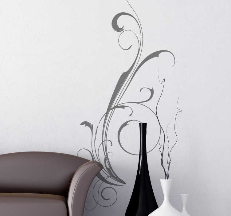TenStickers. Abstract Filigree Sticker. Great sticker with an abstract filigree design for you home. Decorate your home with this extraordinary decal.