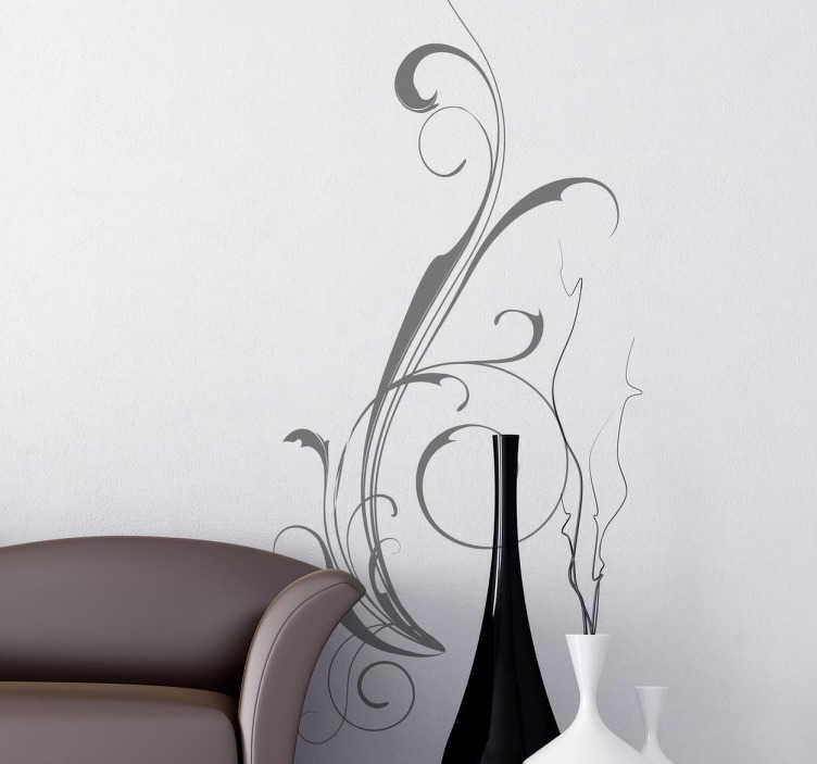 TenStickers. Naklejka dekoracyjna abstrakcyjny wzór. Naklejka dekoracyjna przedstawiająca jednokolorowy, abstrakcyjny, elegancki wzór. Ładny sposób na udekorowanie Twoich pustych ścian.