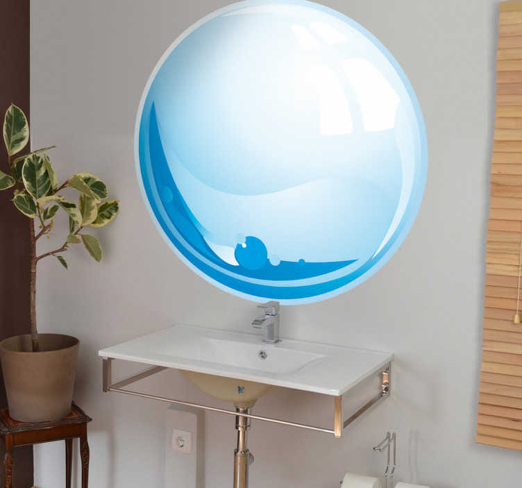 TenStickers. Water Drop Wall Sticker. A water droplet sticker in a circular shape. A decorative design perfect to give your home the desired atmosphere.