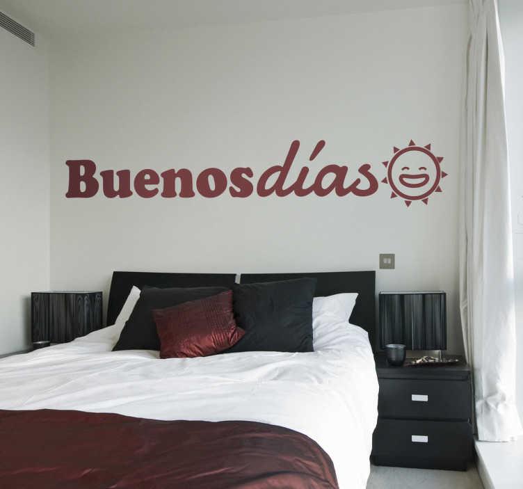 Naklejka Buenos Días