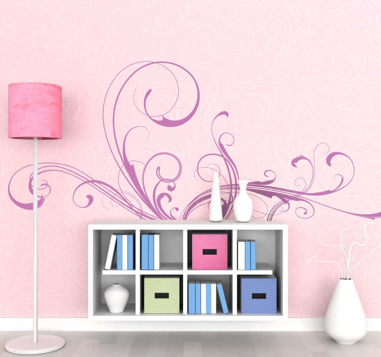 TenStickers. Decorative Filigree Wall Sticker. Fabulous Filigree decal - Decorative design that will add life to any room it is placed in. Available in different colours and sizes.